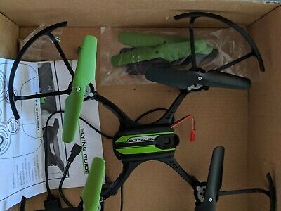 Sky Viper Fury Stunt Drone, Black/Green Used and One Motor NOT WORKIN