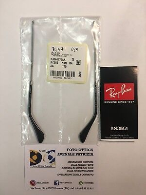 Ray Ban Aste Ricambio Rb 3447 Col. 029 Gunmetal Replacement Arms New Original