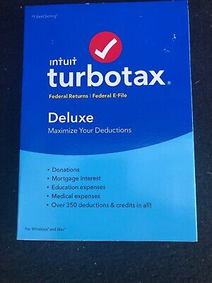 Intuit TurboTax Deluxe 2018 FEDERAL  + E-FILE FOR Windows+Mac USA NIP
