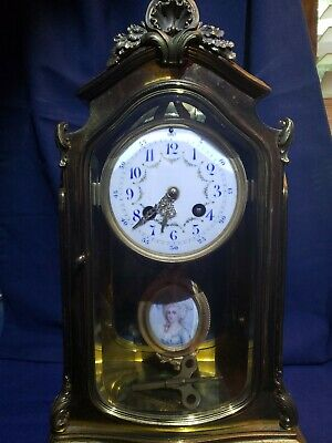 Collector RARE FRENCH CRYSTAL REGULATOR CLOCK, PORTRAIT Japey Freres Neur