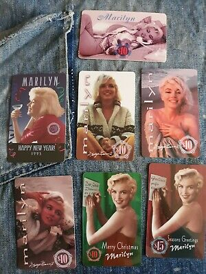 7 Marilyn Monroe 1990s Phone Cards Expired New Years Christmas Lounging Posing