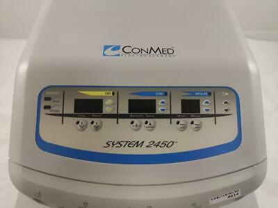 Conmed System 2450 | 60-2450-120 Electrosurgical Generator w/ 2 Footswitches ESU