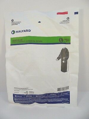 Halyard 41733 Aero Blue Surgical Gown AAMI L3 Large  1/2019