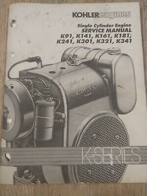 Kohler Engines Single Cylinder Engine Service Manual 1J-2606-Y20