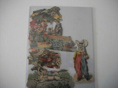 Antique Victorian Die Cut Images Scrapping Cards Large Lot Used Vintage Art