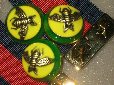 Gucci 3 buttons green yellow bees 23 mm dome BUTTON THIS IS FOR three