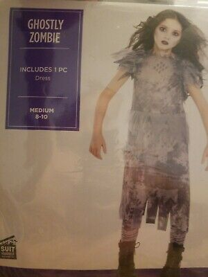 Ghostly Zombie Dress Girls Medium 8-10 Costume by Suit Yourself #420