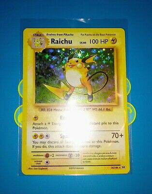 Pokemon Near Mint Holo Rare 36//108 Raichu XY Evolutions