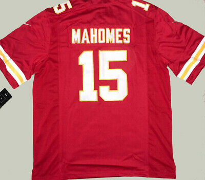 NWT Patrick Mahomes #15 Kansas City Chiefs Red Stitched Men's Jersey 2019