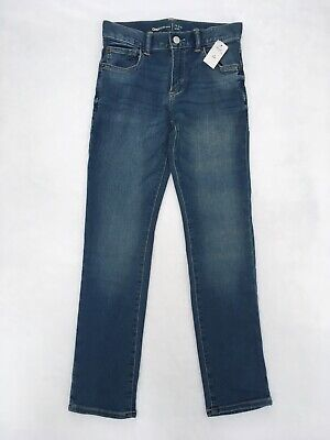 New With Tags Boys Gap Kids Slim Denim Blue Jeans Size 12 Regular