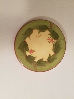Vintage Gail Pittman Signed and Hand Painted Grapevine Design Trivet Hotplate