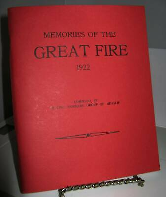 Memories of the Great Fire of 1922 - Temiskaming Ontario History SC Excellent