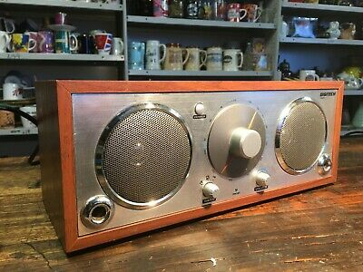 BRT Rare Classic Digitech AM/FM Radio Retro Styled Faux Wood Grain Model AR-1779