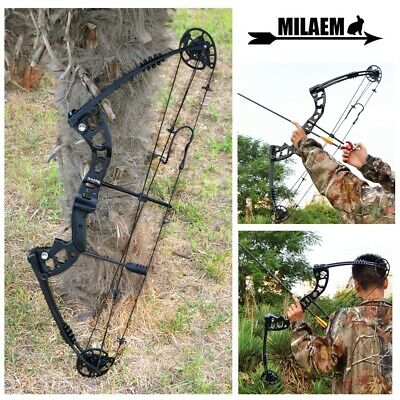 "38"" Compound Bow 30-55lbs Metal Archery Adjustable 70% Practice Target Hunting"