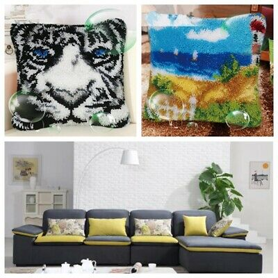 Latch Hook Rug Animals Cushion Cover Making kits for Adults Beginners Embroidery