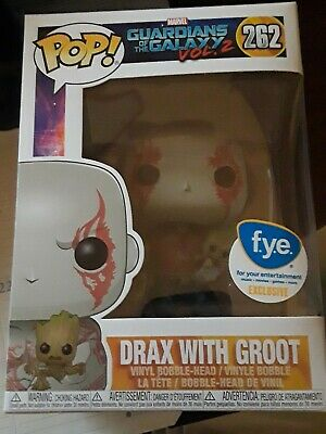 Funko pop Marvel Guardians of the Galaxy Drax with Groot 262 FYE exclusive