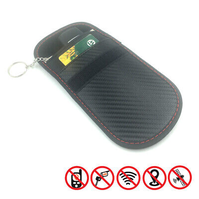 Carbon Key Signal Blocker Case Faraday Cage Fob Pouch Keyless RFID Blocking Bag
