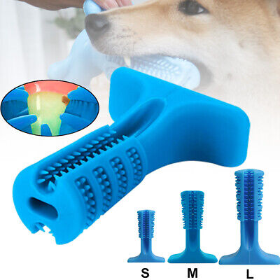 Silicone Bristly Brushing Stick Dogs Pets Oral Care Molar Rod Toothbrush