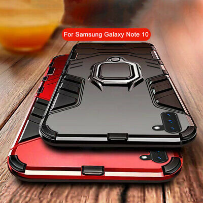 For Samsung Galaxy Note 10 10 Plus Hybrid Magnetic Ring Holder Stand Case Cover