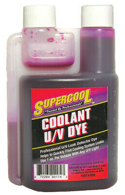 SuperCool RD8 RADIATOR COOLANT DYE CONCENTRATE 8oz FINDS COOLING SYSTEM LEAKS