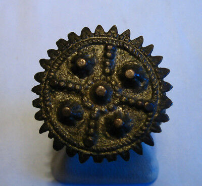 ANTIQUE HUGE Medieval BRONZE RING / 47k