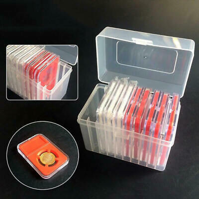 10 Coin Capacity Holder Slabs Storage Box Case For PCGS  Plastic Portable 1PC cv