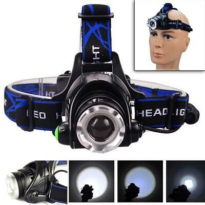 20000LM Zoomable LED Headlamp Rechargeable Headlight CREE XML T6 Head Torch