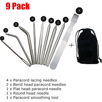 6pc Paracord Bracelet Fid Lacing Stitching Needles Tool Stainless Steel Set USA