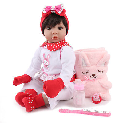 """22"""" Reborn Baby Dolls Realistic Soft Vinyl Silicone Toddler Girl Doll Xmas Gifts"""