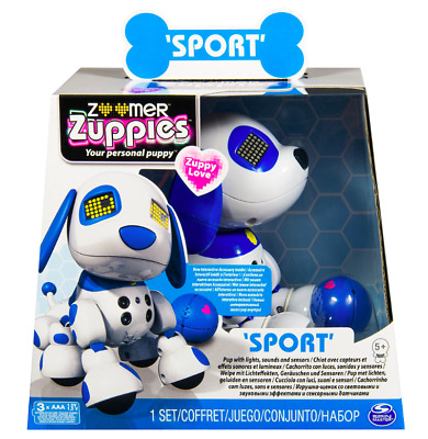 Sport Robot Blue and White Puppy by Zoomer Zuppies Dogs