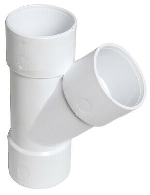 """FLOPLAST 40mm 1.1//2/"""" WHITE STRAIGHT COUPLING COUPLER CONNECTOR ABS SOLVENT WASTE"""