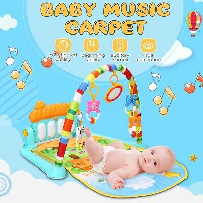 3 in 1 Baby Light Musical Gym Play Mat Lay & Play Fitness Fun Piano Boys Girls