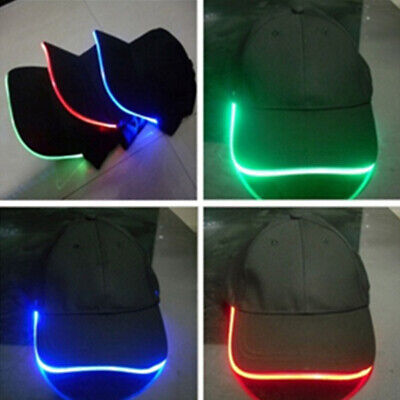 Unisex Outdoor Adjustable Baseball Cap Hat Fishing Camping Hiking with LED Light