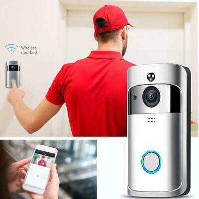 Wireless Smart WiFi Door Bell IR Video Visual Ring-Camera Intercom-Home Security