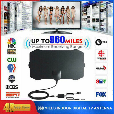 960 Mile USB Indoor Antenna HD TV Digital Skywire 1080P 4K Antena Cable Black