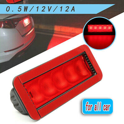 Universal Car Red 5LED 12V Rear High Mount Lever Third 3RD Brake Stop Tail Light