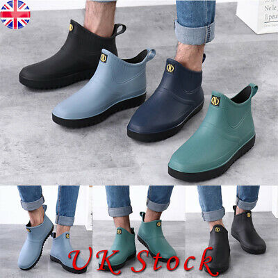 Mens Short Wellington Wellies Waterproof Boots Rain Shoes Garden Fishing Size