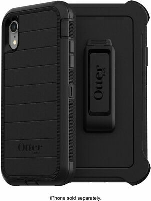 OtterBox Defender Series Pro Case for Apple iPhone XR Black Plus 2 Free Gift