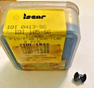 ISCAR CHAMDRILL DRILL TIP QTY 2 INSERTS  IDI 0783-SG IC908 IDI 199 SG CARBIDE