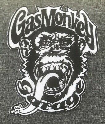 Patch écusson brodé GAS MONKEY GARAGE Biker Moto Chopper Gilet Thermocollant