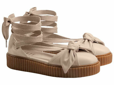 timeless design f93ad c352a PUMA X FENTY Rihanna Bow Creeper Natural Brown Beige Sandals Sneakers