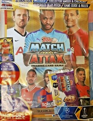 Topps Match Attax Season 2019/20 Trading Card Game = Starter Pack