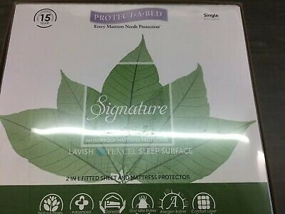 Waterproof Layer Carewell Living Fitted Mattress Protector Tencel