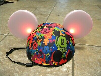 DISNEY PARKS Mickey Mouse LIGHT UP EARS World of Color Glow W/The Show HAT