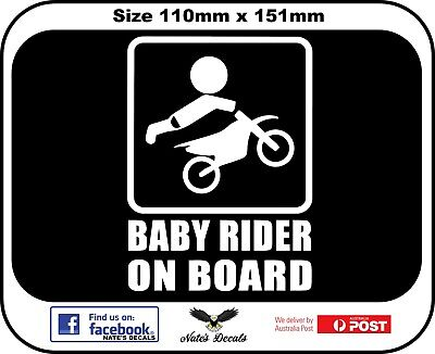 Baby Biker Rider On Board Decal Sticker Baby on Board 2