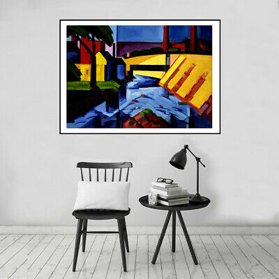 Abstract Colorful Sky and Clouds Canvas Oil Painting Art Poster Home Wall Decor