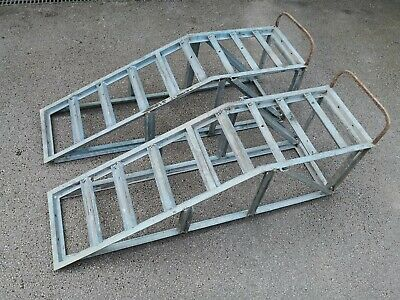 Pair Of Very Heavy Duty Vehicle Ramps For Garage Maintenance