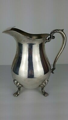 Antique Silver Plated Water Pitcher CRESCENT SILVERWARE MFG CO Footed