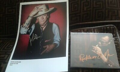 Kiefer Sutherland Autographed Signed A4 Photo & Reckless & Me Cd 'Sealed'