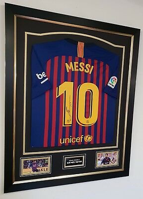 ** Rare LIONEL MESSI of Barcelona Signed Shirt Autographed Jersey **